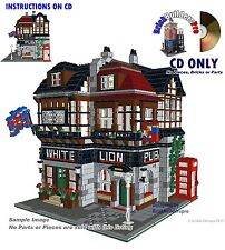CD Custom English Pub Instructions, Lego, cafe corner city modular #30