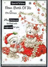 FROM BOTH OF US Quality Christmas Card Cute Bears Design