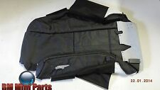 BMW E46 CONVERTIBLE RIGHT FRONT LEATHER SEAT COVER BLACK 52107048476