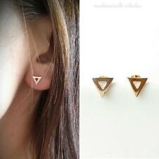 BOUCLES PLAQUE OR 18 CARATS - PUCES, TRIANGLES