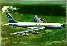 Cartolina Aviazione - Aereo In Volo Boeing 707 Intercontinental Jetliner Boac -
