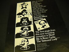 GROUCHO MARX Superstar 1973 PROMO POSTER AD in mint condition