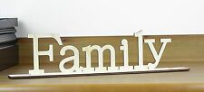 Family Free Standing Wooden Sign / Home Decor / Housewares / Wedding Gift