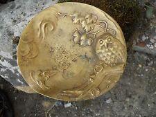 Ancien vide poche en bronze décor Hibou Chouette