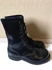 Men's military Para Trooper black leather Jump Boots Maxitred soles 9.5 USA