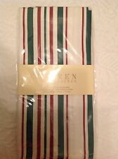 RALPH LAUREN NAPKINS WHITE  NOEL RED GREEN STRIPES 20 X 20 NIP