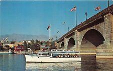 ARIZONA LAKE HAVASU TOURS BOAT AT LONDON BRIDGE POSTCARD c1970s