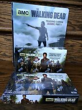 TWO Cryptozoic Walking Dead Season 3 Part 1 Trading Card HOBBY Boxes + Binder