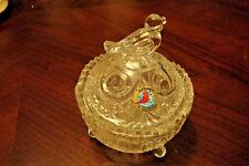 Hofbauer Byrdes German Crystal Birds - decorated with birds- candy dish