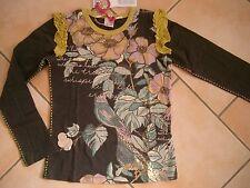 (172) Nolita Pocket Girls Langarm Shirt mit Blumen Druck Volants & Besatz gr.128