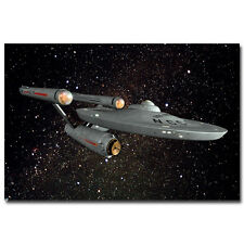 Star Trek Movie Silk Poster USS Enterprise 24x36 inch 003