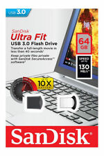 SanDisk 64GB Cruzer Ultra Fit USB 3.0 130MB/s SDCZ43-064G Nano Flash Pen Drive