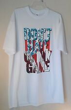 Flying Horse Mens 4XL White Red Blue Graphic Don't Hate On My Game Tee Shirt 50N