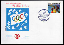Kanada 632, Olympiade 1976 auf Sonderumschlag mit Sonderstempel