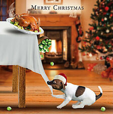Jack Russell Dog Charity Christmas Cards Pack of 5 Taking The Turkey Xmas Cards