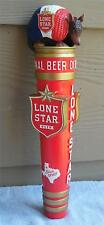 "Lone Star Beer New Armadillo Ceramic Tap Handle ..11 3/4 "" New in box!!"