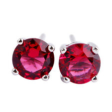Red Black Spinel Morganite Blue Topaz Emerald Sapphire Peridot Silver Earring