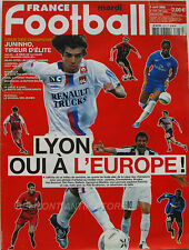 France Football n°3078 - 2005 - Lyon oui à l'Europe - Juninho - Moussilou -