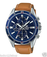 EFR-546L-2A Blue Casio Watches Edifice Analog Leather Band 100m New Model