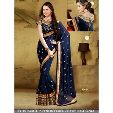 INDIAN DESIGNER TRADITIONAL BOLLYWOOD NEW WEDDING SAREE PARTY WEAR ETHNIC SARI