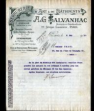"""PARIS (XIX°) SERRURERIE d'ART / CONSTRUCTIONS en Fer """"A & G. SALVANHAC"""" en 1912"""