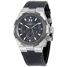 Vacheron Constantin Overseas Chronograph Anthracite Dial Black Leather Mens