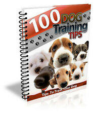 100 DOG TRAINING TIPS  - every Dog Owner Should know - PDF Ebook  MRR