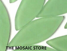 Large Light Green Frosted Glass Petals - Mosaic Tiles Supplies Art Craft