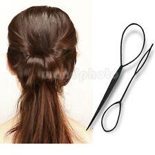 2 x Negro Herramienta Utensilio Peinado Pelo Ponytail para Mujer Chica Niña
