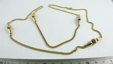 JOB LOT X 8 18K GOLD PLATED/3mm CURB CHAIN/WITH 4 TURNED PENDANTS/311/UK