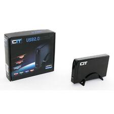 """CiT 3.5"""" USB 2.0 SATA + IDE External HDD Enclosure U35SPA - Black"""
