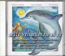 """BATTIATO GUCCINI DE GREGORI - RARO CD """" SETTE VELI INTORNO AL RE """""""
