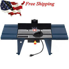 Electric Aluminum Router Table Wood Working Craftsman Tool Benchtop Good