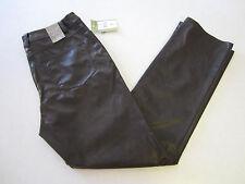 Erin London Pants 6 Brown PVC Blend NEW
