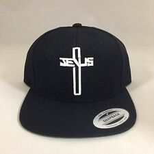 Christian Jesus Cross Snapback Hat Repent Custom Embroidery Cap Glow In The Dark