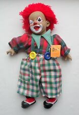 Clown Doll Munecas Arias Spain Circus Red Hair Vintage?