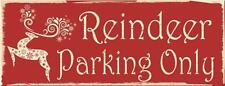 Reindeer Parking Only Christmas Santa Snow Holiday Winter Metal Sign