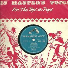 "ELVIS PRESLEY 78 ""PARALYZED / WHEN MY BLUE MOON TURNS TO GOLD..""  HMV POP 378 E-"