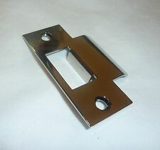 "(1) Decorlux TS03 141 2.75"" Brass Door T-Strike Plate PVD POLISHED NICKEL"