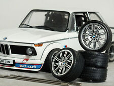 1:18 OttO E46 BMW M3 CSL 'Staggered' WHEELS SET MODIFIED TUNING FELGEN M5 Code 3