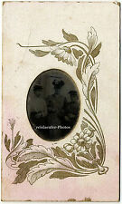 Original Ferrotypie. Außenaufnahme, Tochter, Mutter, Oma um 1900