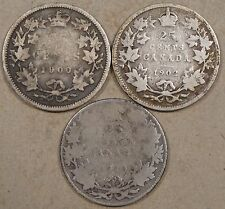 Canada 1900,02,+10 Twenty-Five Cents Lower Grades as Pictured