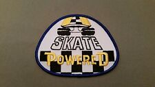 skate powered skateboard embroidered patch