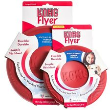 KONG Flyer Dog Frisbee - Small, a Perfect Dog Soft Rubber Toy