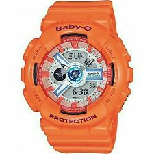 100% Original CASIO BABY-G BA-110SN-4A ORANGE ANALOG DIGITAL