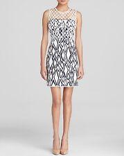 DIANE VON FURSTENBERG DVF Leonora Ikat Stamp Net Dress Celebrity Size 6 NWT $498