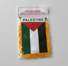 PALESTINE MINI POLYESTER INTERNATIONAL FLAG BANNER 3 X 5 INCHES