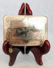 """Zigarettenetui """"auf den Pferdeschlitten"""" NIELLO  RUSSLAND um 1894 cigarette case"""