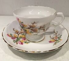 Collectible Bone China Porcelain Footed Tea Cup And Saucer England