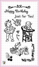 Laughing Baby ~ clear stamps set vintage FLONZ 103 rubber acrylic